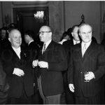 Ги Молле и Хрущев 1956