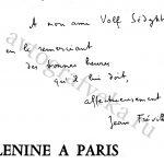 Фревиль - Ленин в Париже