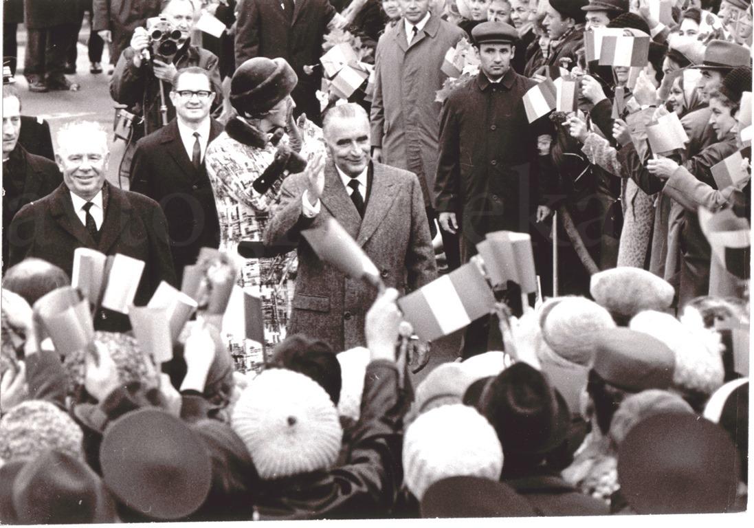 Хрущев и Помпиду Внуково 1970