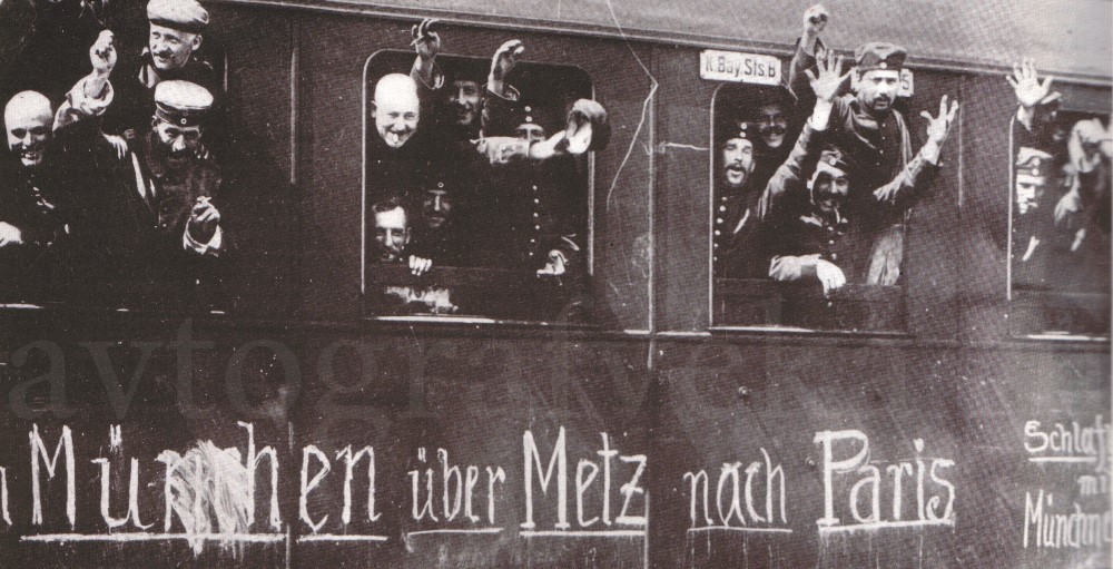 1914_Немцы едут на фронт