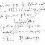 Запись Марии Роллан в книге гостей