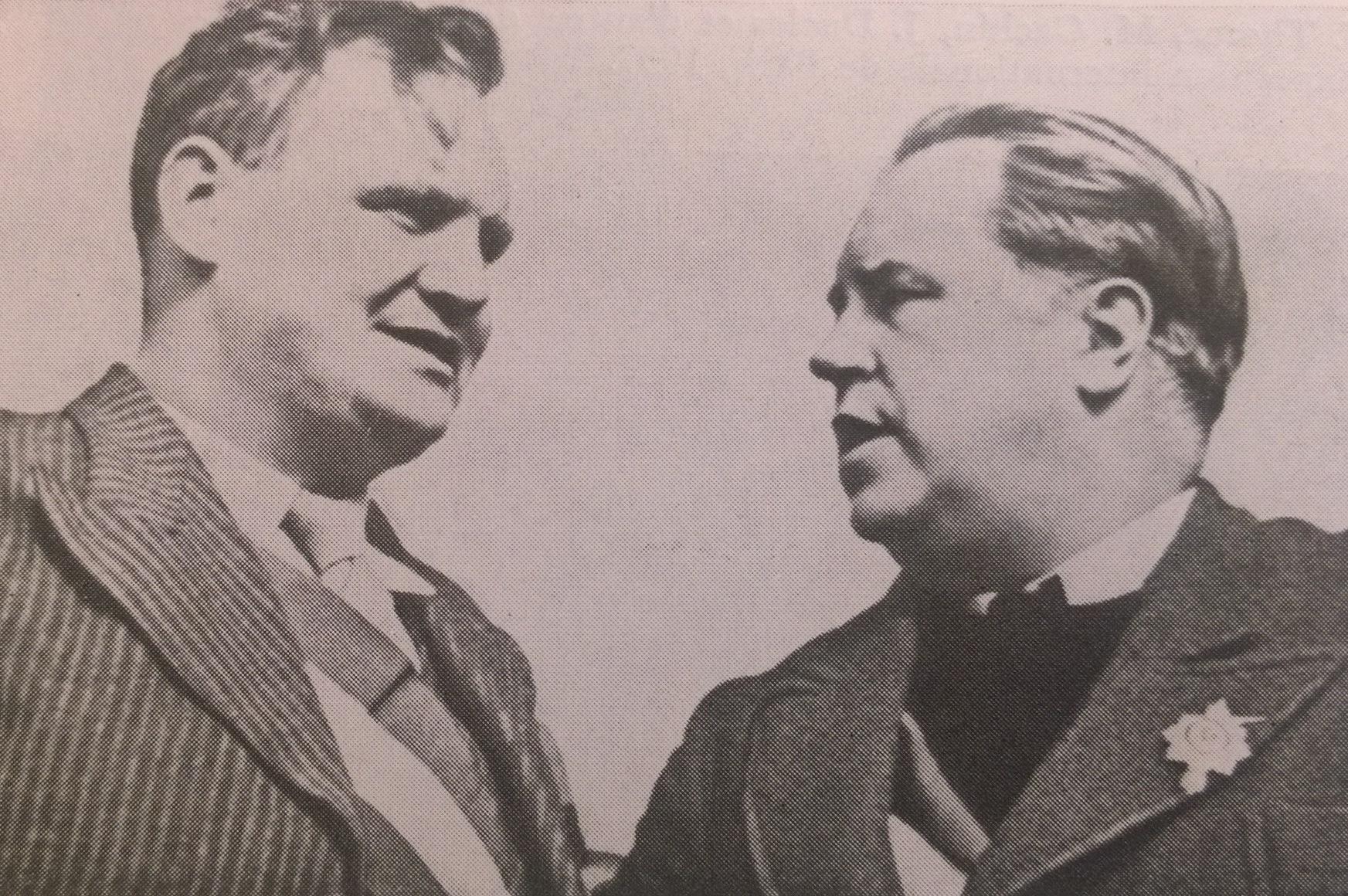 Морис Торез и Поль Вайян-Кутюрье. Париж. 1930-е годы
