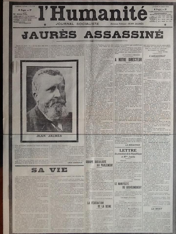 Юманите-убийство Жореса_1914